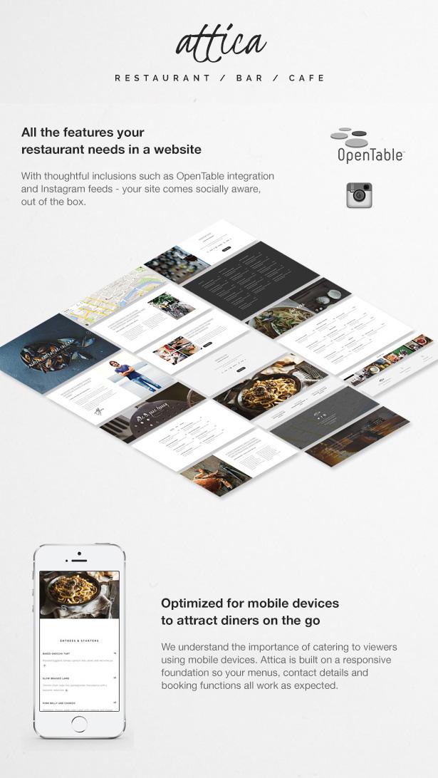 Attica - One page Restaurant Joomla Template